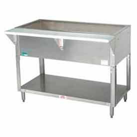 "Coldpan Table, 62.375""L 4-Pan Size, S/S Open Base w/Undershelf"