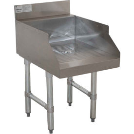 """Advance Tabco CR-GS-18, Recessed Drainboard for Glass Storage, 18""""Wx21""""Dx33""""H, Stainless Steel"""