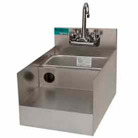 """Add-On Unit, 12"""", Blender/Recess/Sink w/ Gooseneck Faucet, 21"""" Front To Back S/S by"""