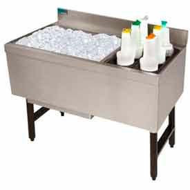Combo Ice Chest, 21X35, Storage Rack Right, 77/35 lbs Ice Cap, S/S Ends by