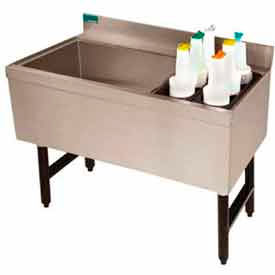 Combo Ice Chest, Coldplate, 21X41, Bottle Storage Rack Right, 98/35 lbs Ice Cap by