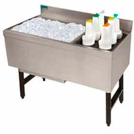 Challenger Combo Ice Chest, 21X41, Bottle Storage Rack Right, 98/35 lbs Ice Cap by