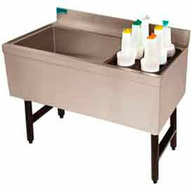 Combo Ice Chest, Coldplate, 21X41, Bottle Storage Rack Left, 35/98 lbs Ice Cap. by