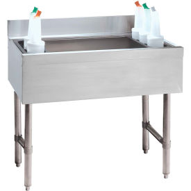 Cocktail Unit, 21X42X12 w/Cold Plate, 140-Lbs. Ice Capacity