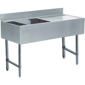 Challenger Ice Bin/Cocktail Station, 48X21X8, w/Cold Plate. R Drainboard