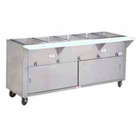 "Hot Food Table, Electric, 62.375""L (4) 12"" x 20"" Wells Sliding Doors, 208V by"
