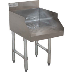 """Advance Tabco SL-GS-15, Recessed Drainboard for Glass Storage, 15""""Wx18""""Dx33""""H, Stainless Steel"""