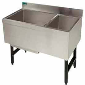 Combo Ice Chest, 18X35, w/Cold Plate, Storage Rack Right, 77/35 lbs Ice Capacity by