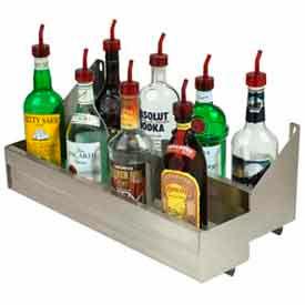 "Bottle Rack, 29"", Double Tier (Integral) Keyhole, S/S"