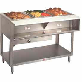 """Water Bath Hot Food Table, Lp Gas, 78.750""""L (5)12"""" x 20"""", S/S Open Base"""