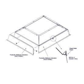 SunStar Parabolic Reflector Extension - 41690121 For 30,000 to 40,000 BTU Ceramic Heaters