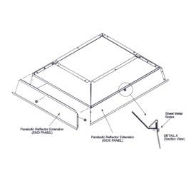 SunStar Parabolic Reflector Extension 41690123 For 100,000 to 120,000 BTU Ceramic Heaters by