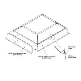 SunStar Parabolic Reflector Extension - 41690123 For 100,000 to 120,000 BTU Ceramic Heaters