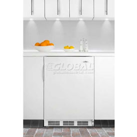 Summit AL650BI - ADA Comp Built-In Undercounter Refrigerator-Freezer, Cycle Defrost In White