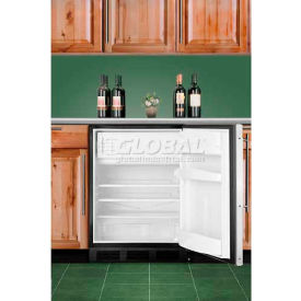 Summit AL652BBIFR - ADA Comp Built-In UC Refrigerator-Freezer, BK, Two-Piece SS Door Frame