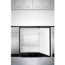 Summit AL752BBISSHH ADA Comp Built in Undercounter Refrigerator 5.5 Cu. Ft. Black