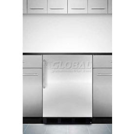 Summit ALB653BSSTB - ADA Comp Built-In Refrigerator-Freezer, S/S Door, TB Handle, Black