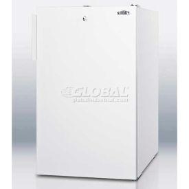 "Summit CM411L7 - 20""W Counter Height Refrigerator-Freezer, Lock, White Exterior"