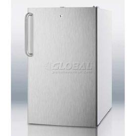 "Summit CM411L7SSTBADA - ADA Comp 20""W Freestanding Refrigerator-Freezer, Lock,, Wh Cabinet"