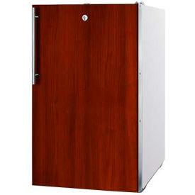 "Summit CM411LBI7IFADA - ADA Comp 20""W Built-In Refrigerator-Freezer, Lock, Int Door Frame, WH Finish"