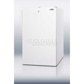"Summit CM411LBIADA - ADA Comp 20"" W Built-In Undercounter Refrigerator-Freezer White, Front Lock"
