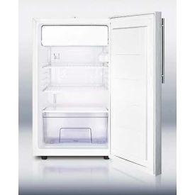 "Summit CM411LBISSTB - 20"" Wide Built-In Refrigerator-Freezer, Lock, S/S Door,, White"