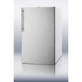 Summit CM411LSSHV Counter Height Refrigerator-Freezer W/Lock 4.1 Cu. Ft. White/Stainless Steel