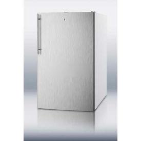 """Summit CM411LSSHVADA - Refrigerator-Freezer, ADA Comp 20"""" Wide Freestanding, S/S Door, White"""