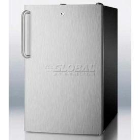 "Summit CM421BLBI7SSTBADA - ADA Comp 20""W Built-In Refrigerator-Freezer, Lock,, Black"
