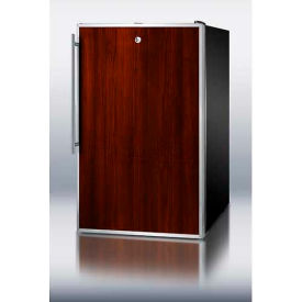 "Summit CM421BLBIFRADA - ADA Comp 20"" Wide Built-In Undercounter Refrigerator-Freezer, Lock, Black"