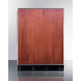 "Summit CT663BBIFRADA - ADA Compliant Built-In Undercounter Refrigerator-Freezer, 5.1 Cu. Ft, 24""W"