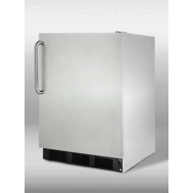 Summit CT66BCSSADA - ADA Comp Built-In Refrigerator-Freezer, Fully Wrapped S/S, Black Kickplate