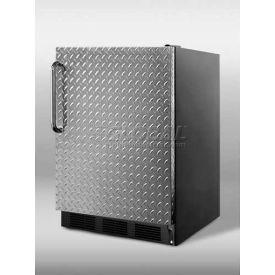 Summit CT66BDPL Counter Height Refrigerator-Freezer 5.1 Cu. Ft. Black/Diamond Plate
