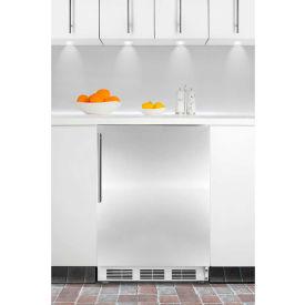 Summit CT66JBISSHV Built In Undercounter Refrigerator-Freezer 5.1 Cu. Ft. White/Stainless Steel