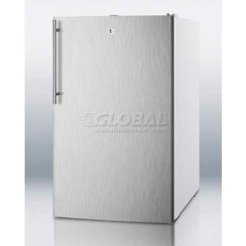 """Summit FF511L7SSHV - 20""""W Counter Height All-Refrigerator, Auto Defrost, Lock, S/S Door, WH"""
