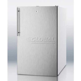 "Summit FF511LBI7SSHVADA - ADA Comp 20""W Built-In Undercounter All-Refrigerator, Lock, WH"