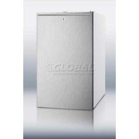 Summit FF511LBISSHHADA ADA Comp Built in Undercounter Refrigerator 4.1 Cu. Ft. White/Stainless Steel