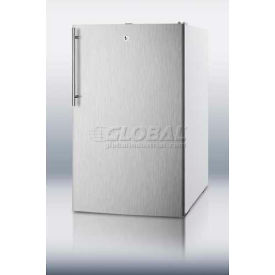 Summit FF511LSSHVADA ADA Comp Counter Height All Refrigerator 4.1 Cu. Ft. White/Stainless Steel