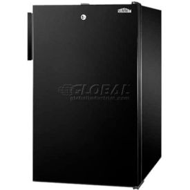 "Summit FF521BL7 - 20""W Counter Height All-Refrigerator, Auto Defrost, Lock, Black Exterior"