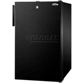 "Summit FF521BL7ADA - ADA Comp 20""W Counter Height All-Refrigerator, Auto Defrost, Lock, Black"