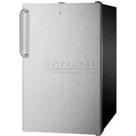 "Summit FF521BLBI7SSTB - 20""W Built-In Undercounter All-Refrigerator, Auto Defrost,, Bk Cabinet"