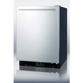 Summit FF590SSHH Built In-Freestanding All Refrigerator 5.6 Cu. Ft. Black/Stainless Steel