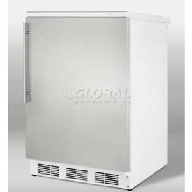 Summit FF67SSHV - Freestanding All-Refrigerator, S/S Door, Thin Handle