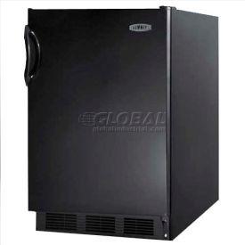 Summit FF6B7ADA - ADA Comp All-Refrigerator, Automatic Defrost, Black Finish