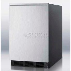 Summit FF6B7SSHHADA - ADA Comp All-Refrigerator, Black For Freestanding ,, S/S Door