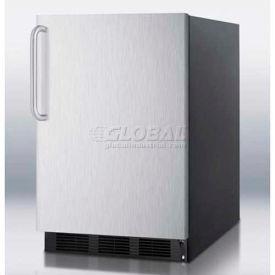 Summit FF6B7SSTB - All-Refrigerator, Black, S/S Door, Towel Bar Handle