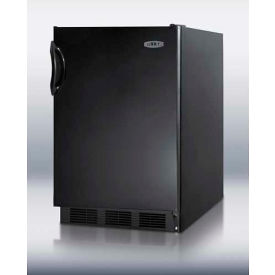 Summit FF6BADA ADA Comp Freestanding Counter Height All Refrigerator 5.5 Cu. Ft. Black