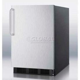 Summit FF6BBI7SSTBADA - ADA Comp Built-In Undercounter All-Refrigerator, Black, S/S Door,