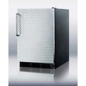 Summit FF6BDPL Freestanding Refrigerator 5.5 Cu. Ft. Black/Diamond Plate