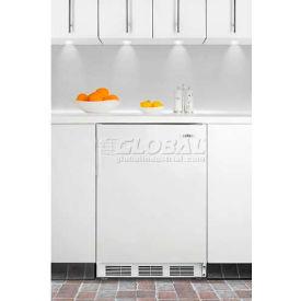 Summit FF6BIADA ADA Comp Built in Undercounter Refrigerator 5.5 Cu. Ft. White